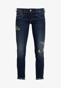 Herrlicher - GILA SLIM CROPPED - Slim fit jeans - rough blues destroy - 6