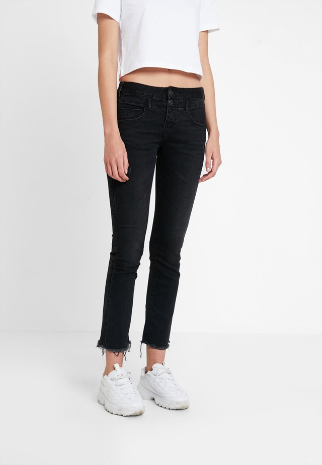 BABY CROPPED - Jeans slim fit - coal black
