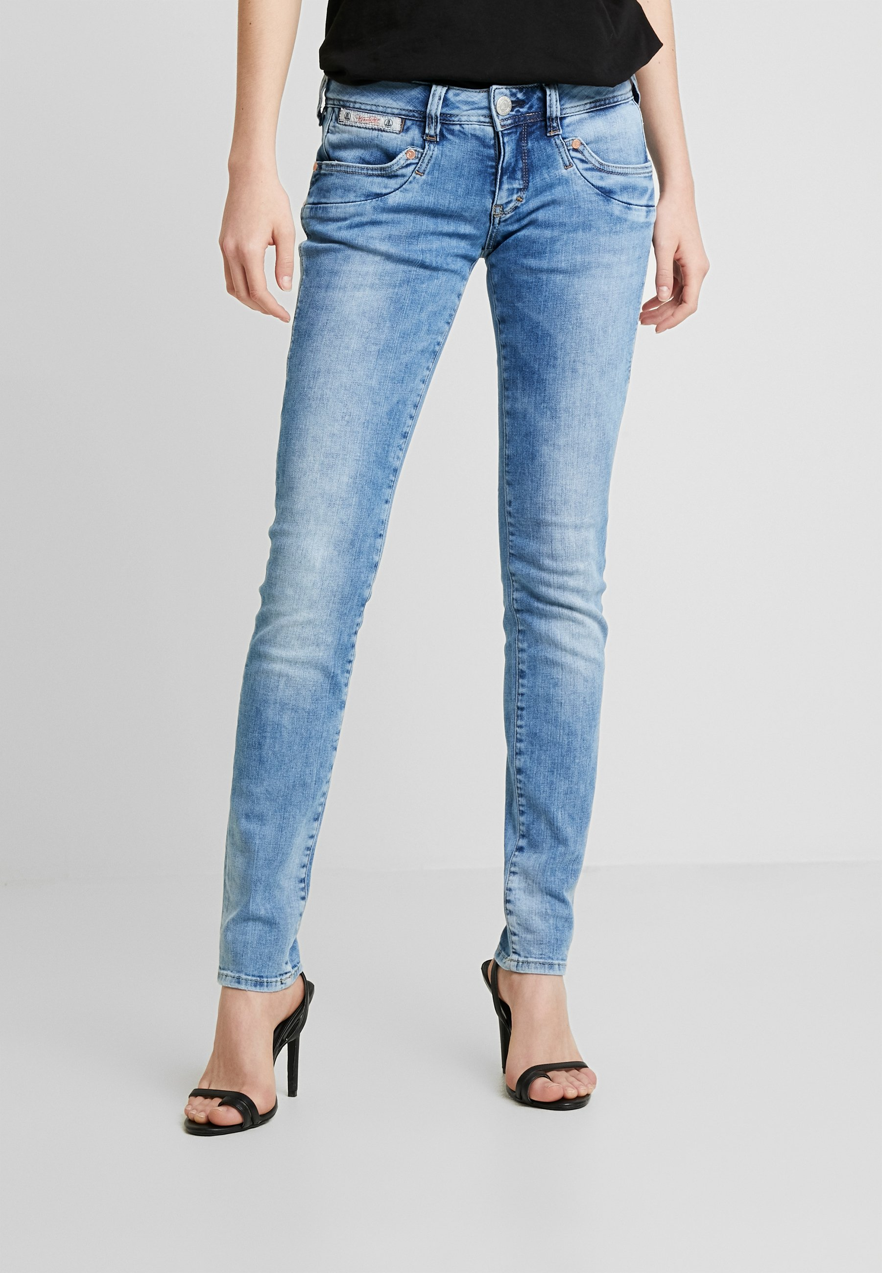 Herrlicher Piper Slim Stretch - Jeansy Fit Light Blue Denim