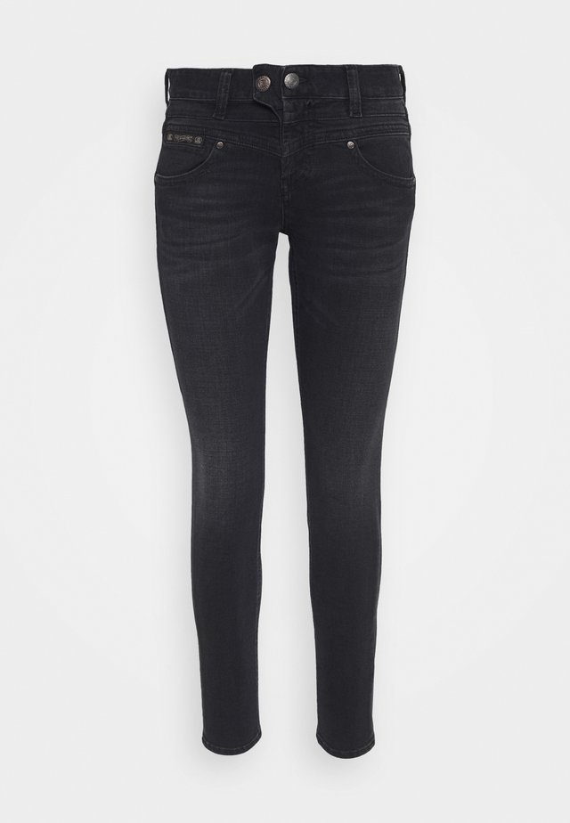BIJOU TOUCH - Jeansy Skinny Fit - black dull