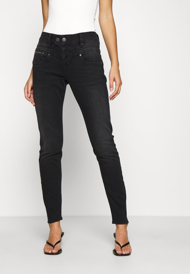 BIJOU TOUCH - Jeans Skinny Fit - black dull
