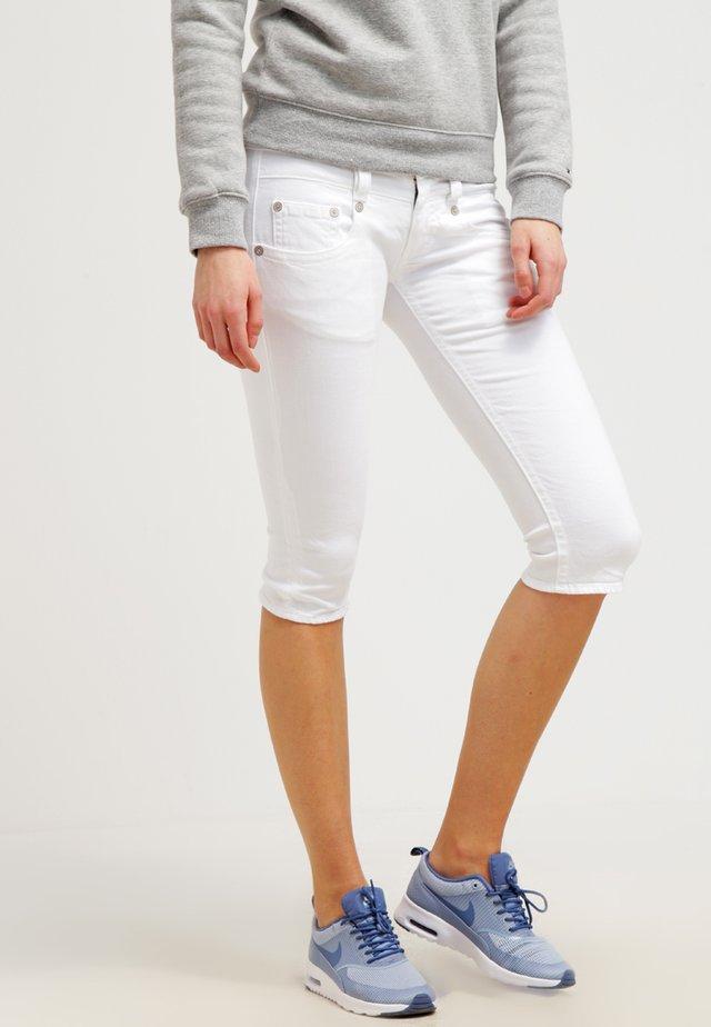 PITCH - Denim shorts - white