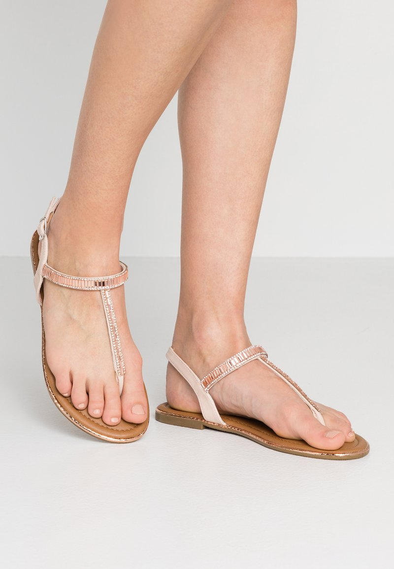 H.I.S - T-bar sandals - nude