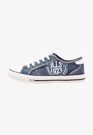 Sneakers laag - navy washed jeans