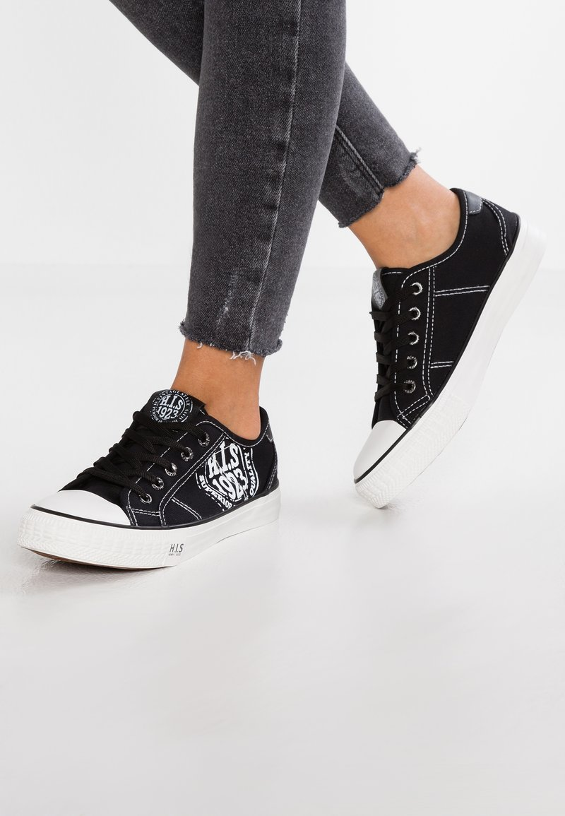 H.I.S - Sneakers - black/white
