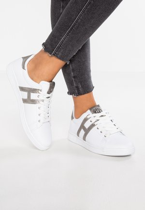 Joggesko - white/silver