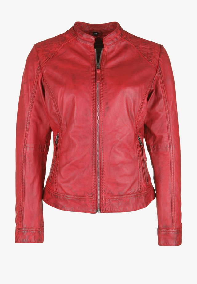 ROSTOCK - Leather jacket - red