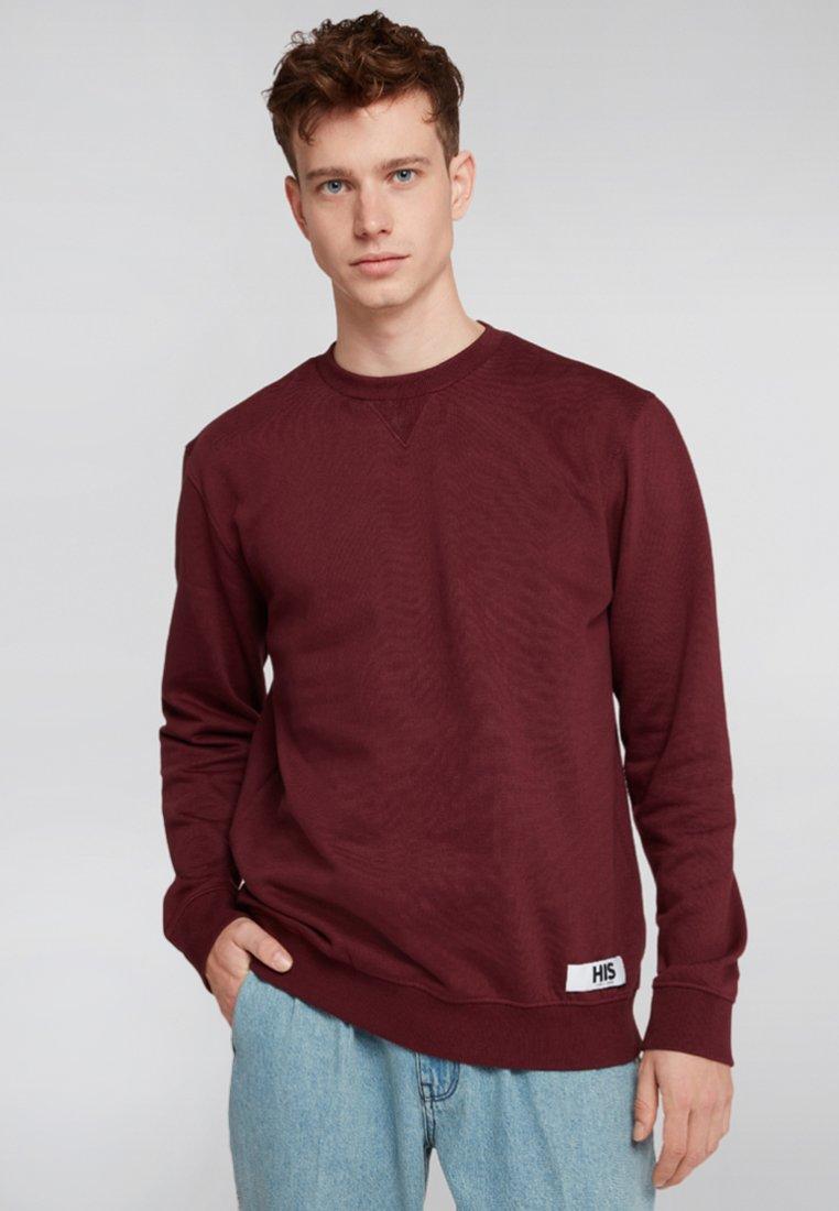 H.I.S - Sweatshirt - dark red