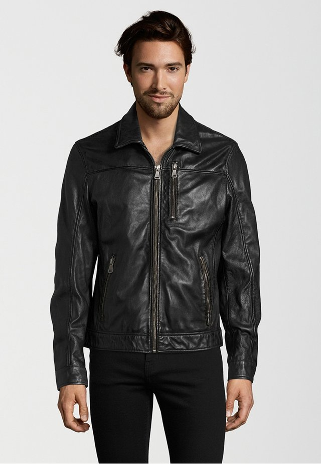 BALE - Leather jacket - black