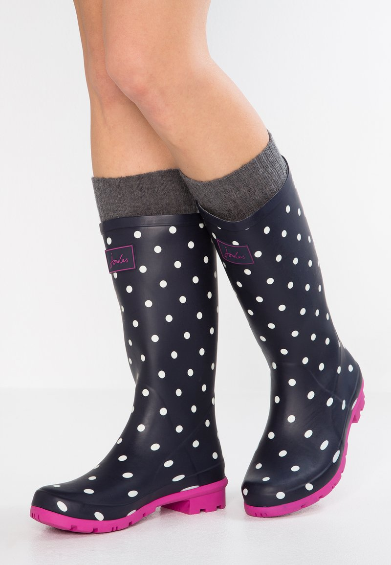 Tom Joule - ROLL UP WELLY - Stivali di gomma - navy
