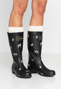Tom Joule - ROLL UP WELLY - Kumisaappaat - black - 0