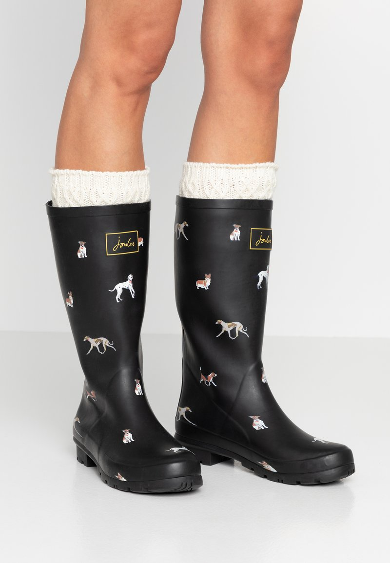 Tom Joule - ROLL UP WELLY - Kumisaappaat - black