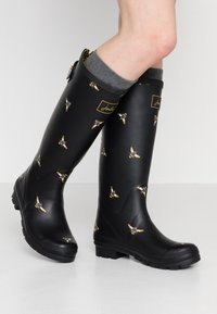 Tom Joule - WELLY PRINT - Gummistövlar - black metallic - 0