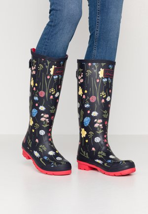 WELLY PRINT - Regenlaarzen - navy