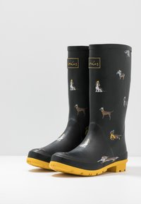 Tom Joule - ROLL UP WELLY - Stivali di gomma - black - 4