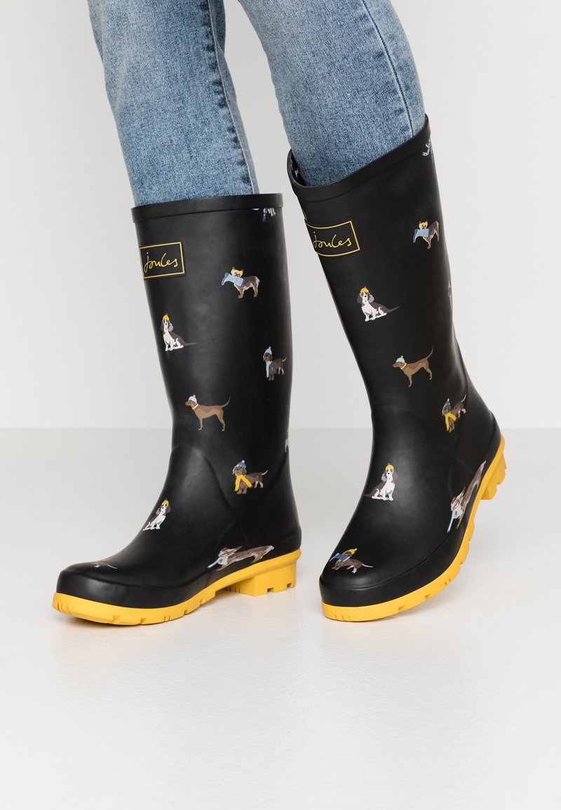 Tom Joule - ROLL UP WELLY - Stivali di gomma - black