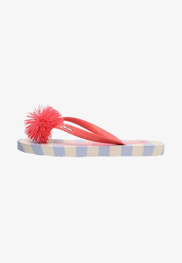 JUNIOR - T-bar sandals - blau seepferdchen