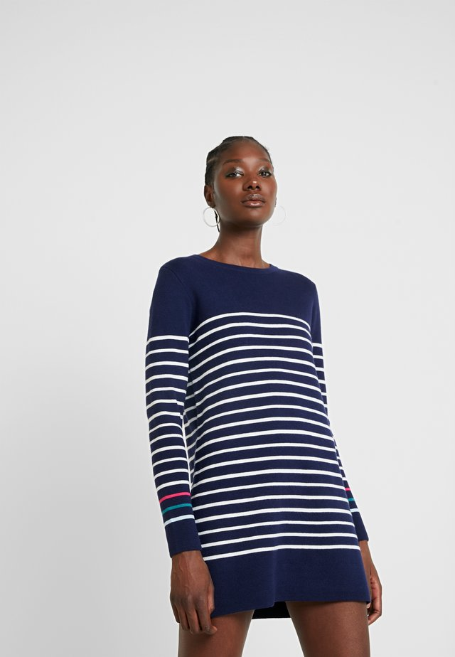 ESTELLE - Shift dress - navy/cream