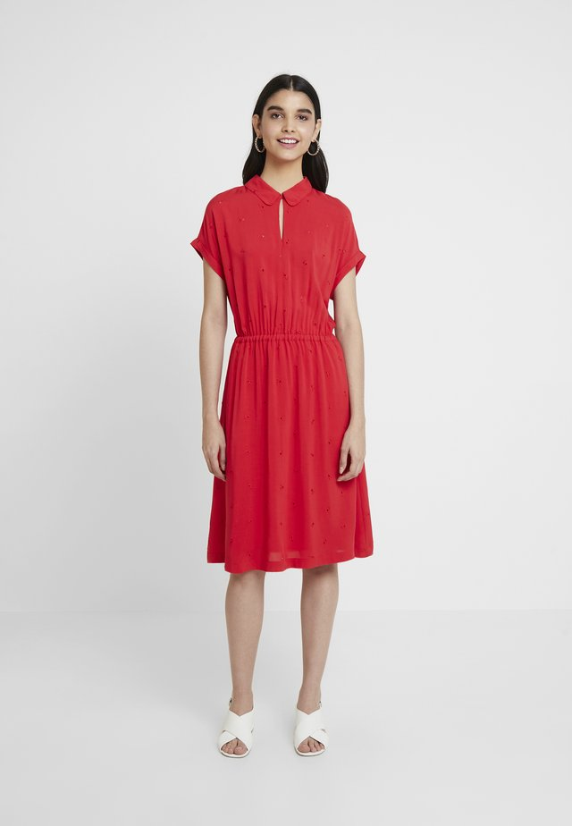 ETTY BRODERIE - Day dress - red lemon