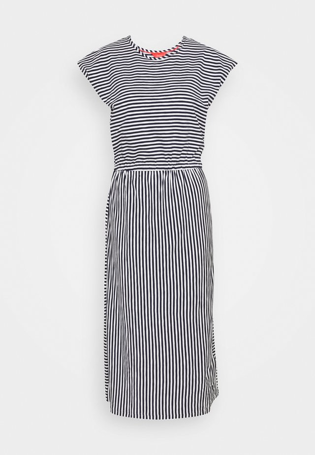 ALMA - Jersey dress - dark blue/white