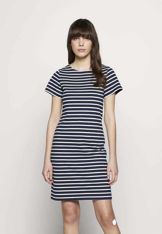 RIVIERA - Sukienka z dżerseju - darkblue/white