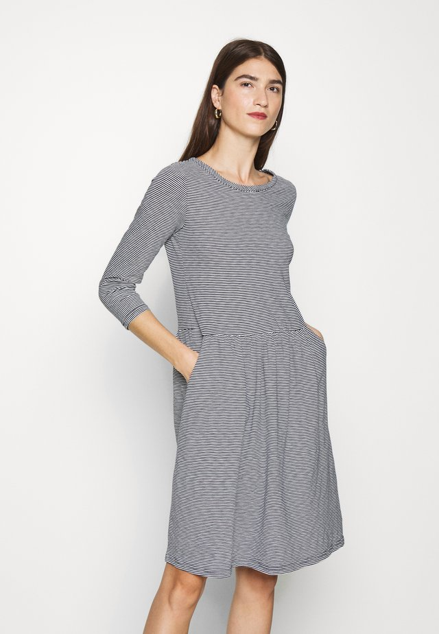 BERNADETTE - Jersey dress - navy/cream