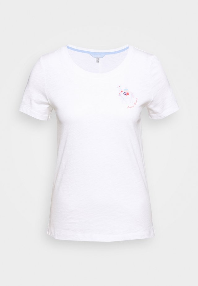 CARLEY - T-shirt con stampa - llamawhite