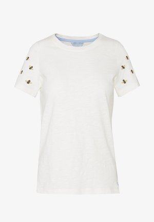 CARLEY - T-shirts med print - white/beige