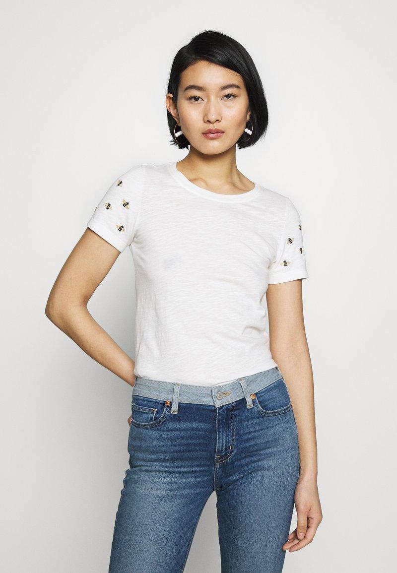 Tom Joule - CARLEY - Print T-shirt - white/beige