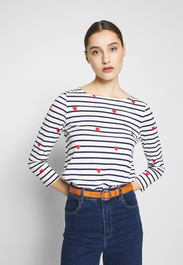 HARBOUR - Long sleeved top - white/red