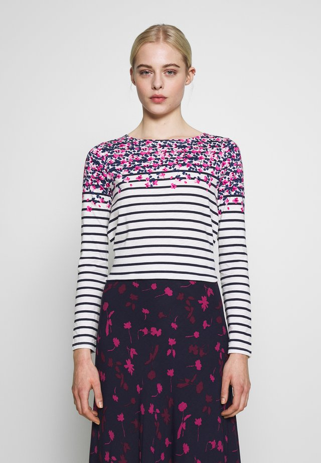 HARBOUR - Long sleeved top - white/multi-coloured