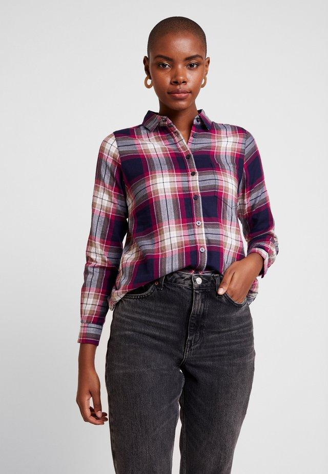 LORENA - Button-down blouse - berry
