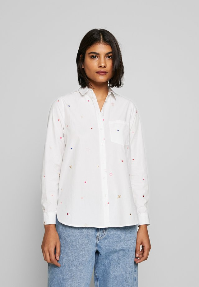 LORENA LUXE - Button-down blouse - white