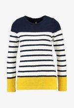 SEAHAM - Sweter - navy/cream/gold