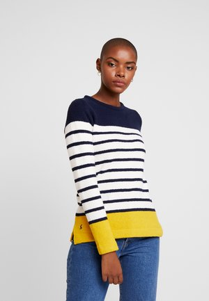 SEAHAM - Jumper - navy/cream/gold