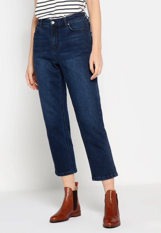 MIT GERADEM BEIN ETTA - Jeans straight leg - indigo blue