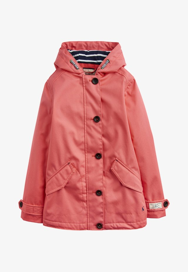 Waterproof jacket - bright coral
