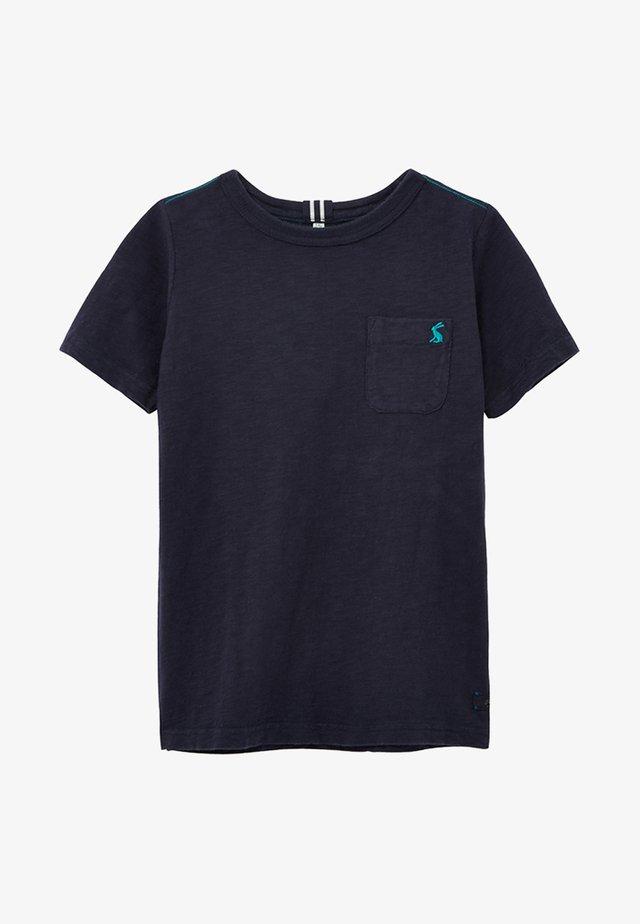 MIT WASCHEFFEKT - T-shirt basic - blue