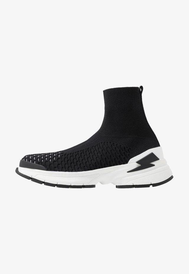 METORITE SOCK MOLECULAR - Sneaker high - black/white