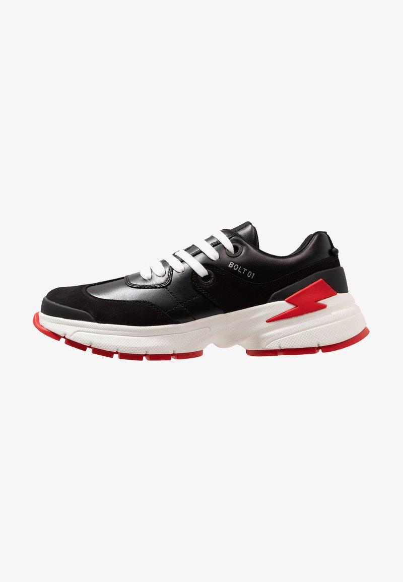 Neil Barrett - CITY TRAINER - Sneakersy niskie - black/white/red