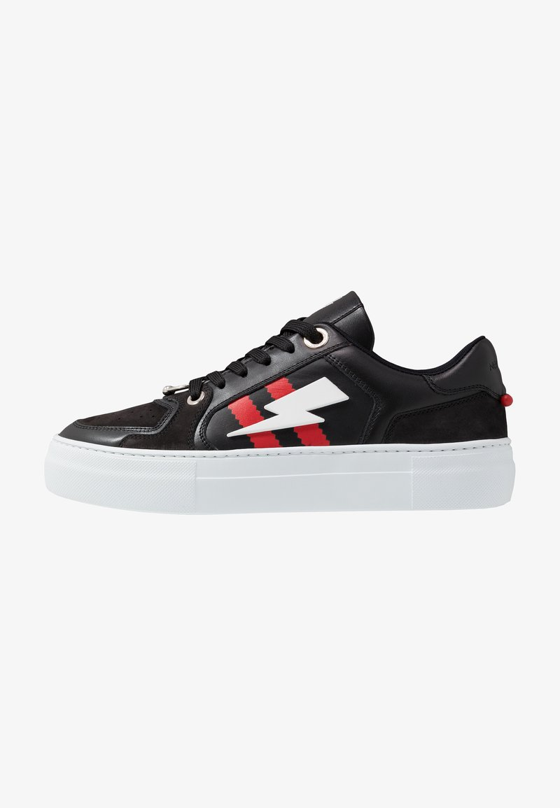 Neil Barrett - PIERCED MODERNIST ULTRA - Trainers - black/red/white