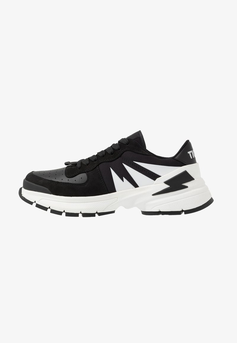 Neil Barrett - TIGER BOLT SPORTS - Sneakers laag - black/white
