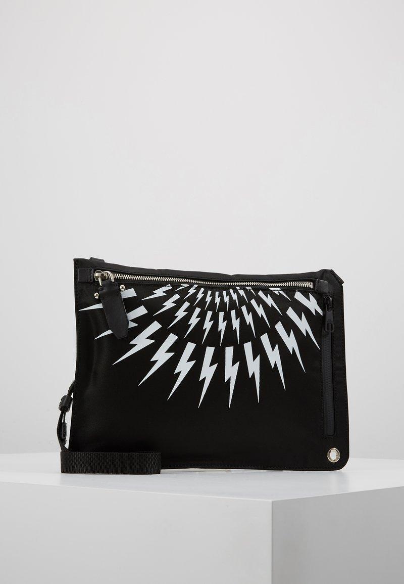 Neil Barrett - TIGER BOLT SACOCHE - Across body bag - black/white