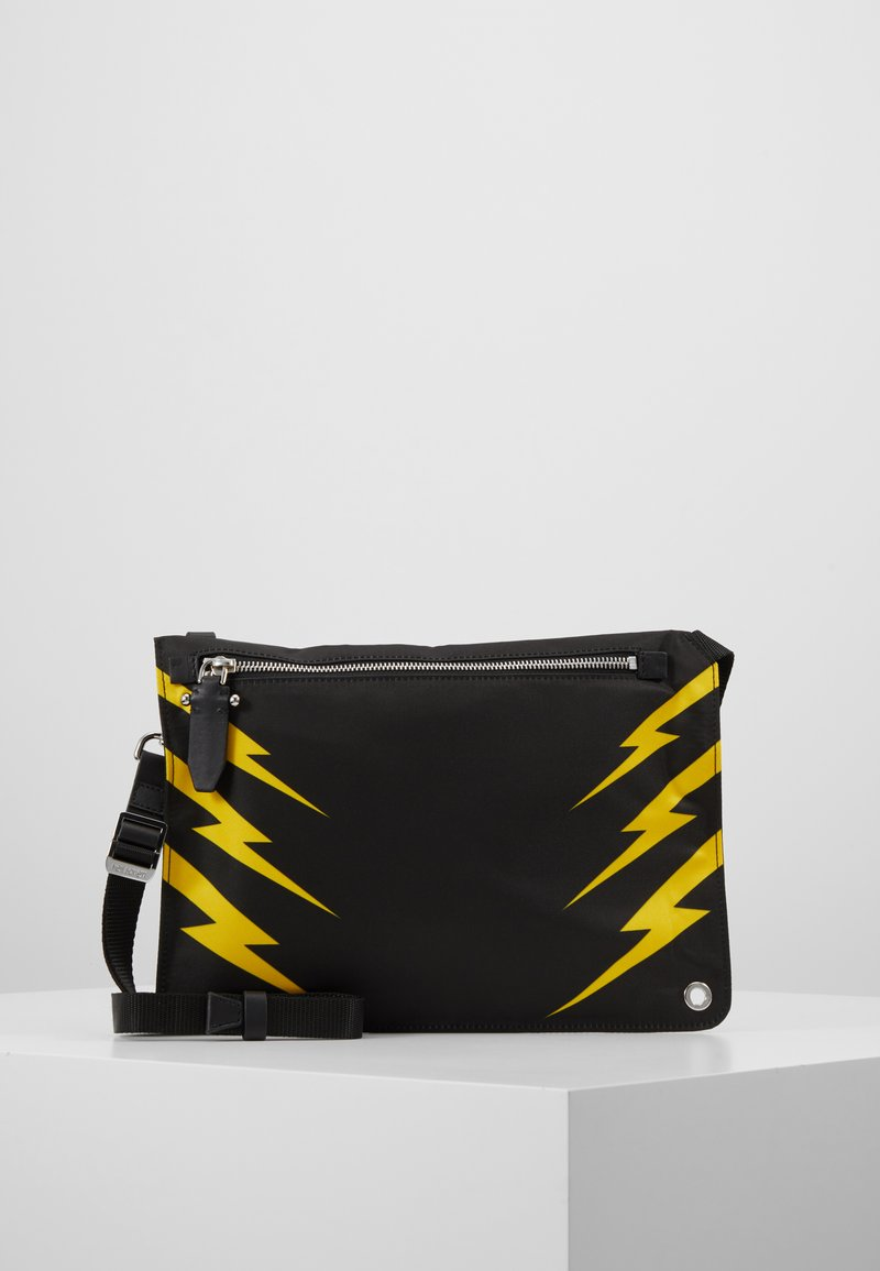 Neil Barrett - TIGER BOLT SACOCHE - Schoudertas - black/yellow
