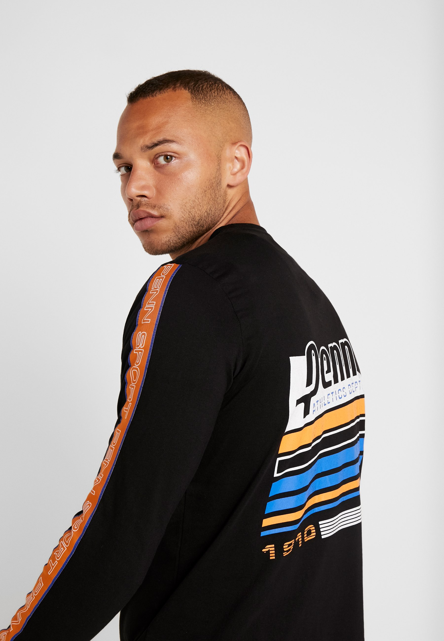 Black Long Manches À Taped shirt TeeT Graphica Sleeve Men's Penn Longues cLq354AjRS