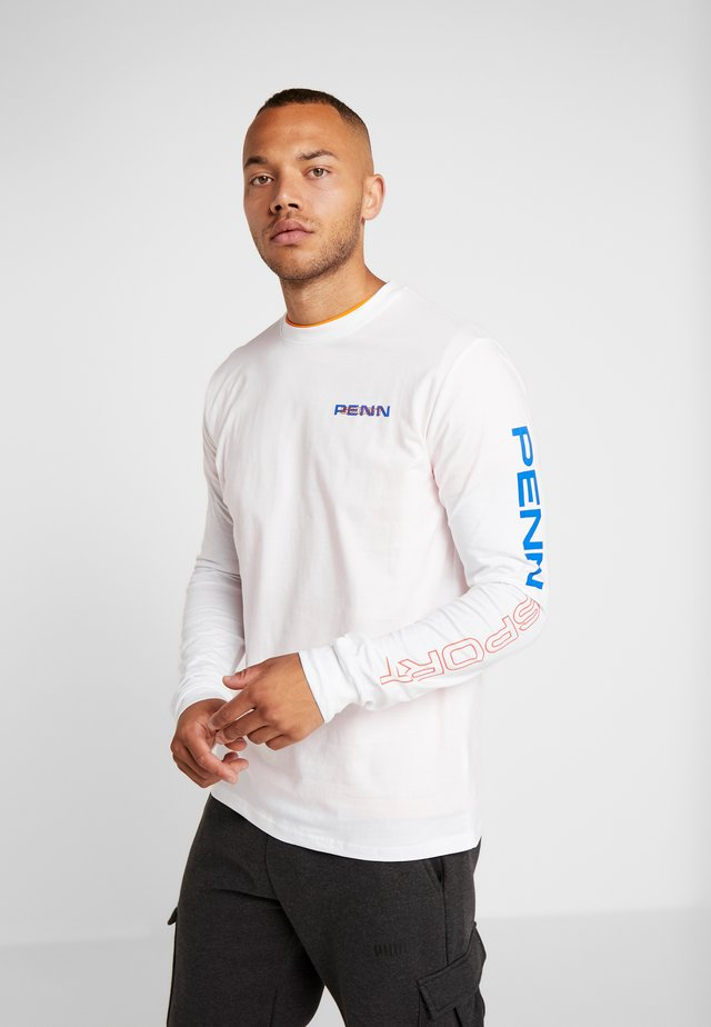 MEN'S LONG SLEEVE LOGO TEE - Langarmshirt - white
