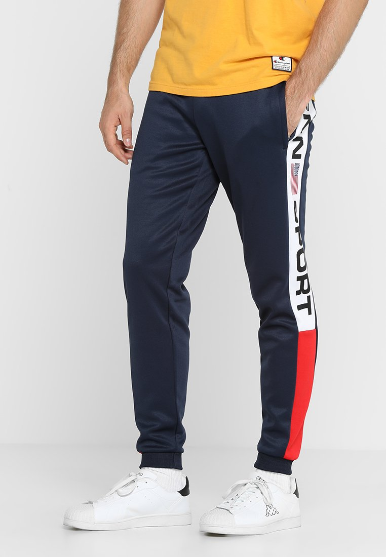 Penn - MENS COLOUR BLOCKED PANEL TRACKIE - Jogginghose - navy/red