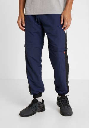 MENS ZIP OFF TRACK PANT - Pantalon de survêtement - navy/black