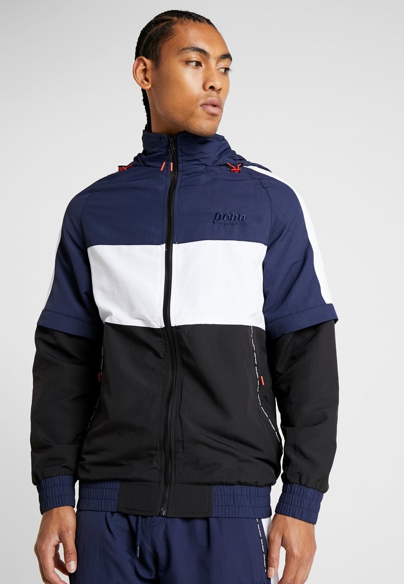Penn - MENS ZIP OFF TRACK JACKET - Giacca sportiva - navy/black
