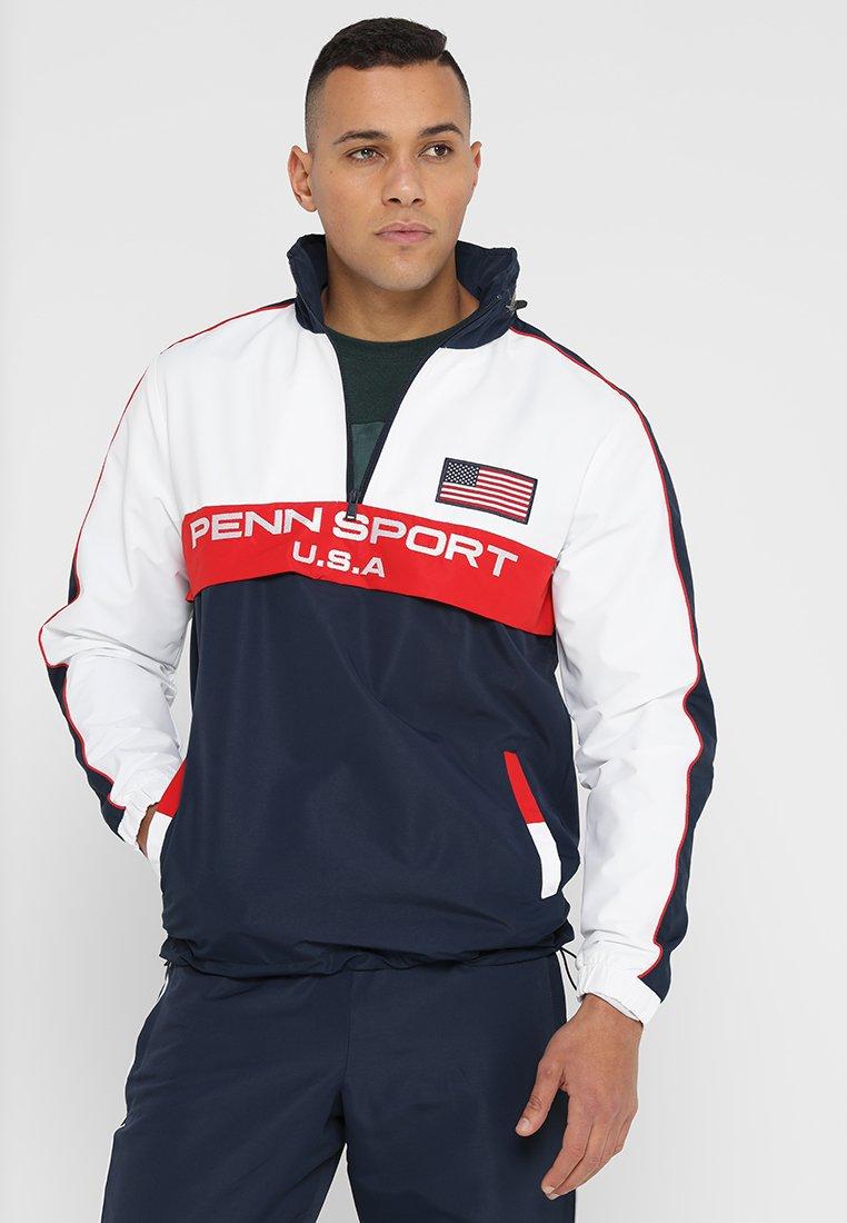 Penn - MENS ZIP HIDDEN HOOD  - Outdoor jacket - navy/white/red